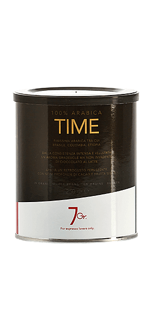 7 Gr. Time Coffee 100% Arabica Bohnen 250 g Dose