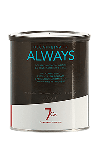 7Gr. Always Coffee Decaffeinato gemahlen 250g Dose