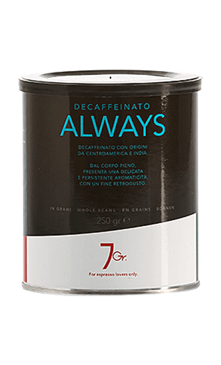 7Gr. Always Coffee Decaffeinato Bohnen 250g Dose