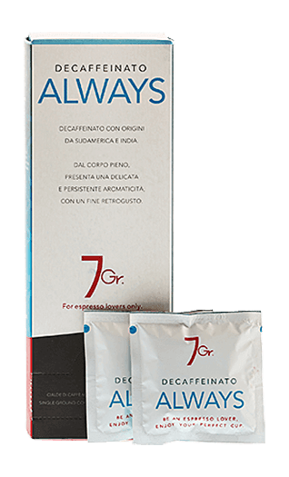 7Gr. Always Coffee Decaffeinato 24 Pads