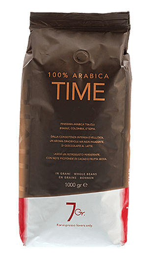 7Gr. Time Coffee 100% Arabica Bohnen 1000g