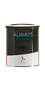 7Gr. Always Coffee Decaffeinato ground 8.82oz Tin