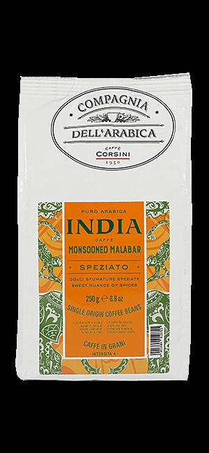 Caffe Corsini India Monsooned Malabar Bohnen 250g