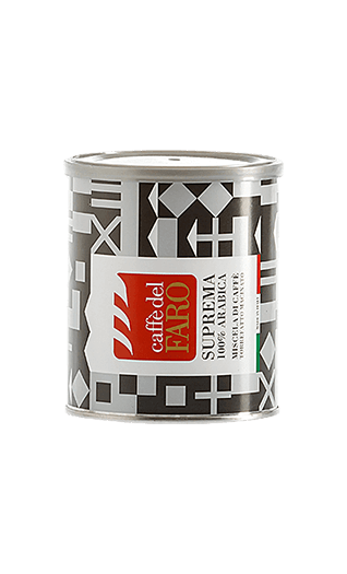 Caffè del Faro Suprema 100% Arabica ground 8.82oz Tin