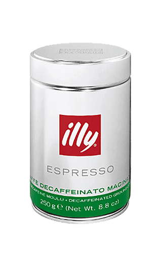 Illy Decaffèinato ground 8.82oz Tin