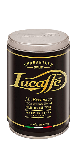 Lucaffe Mr. Exclusive 100% Arabica gemahlen 250g Dose