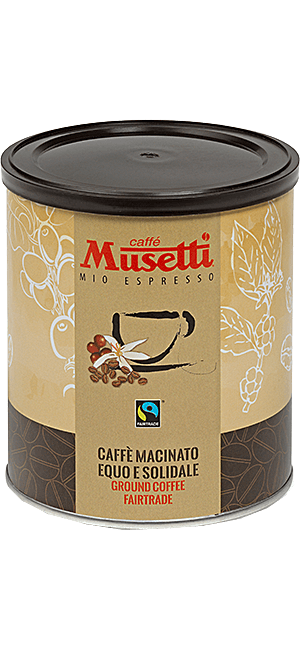 Musetti Fair Trade 250g Bohnen Dose