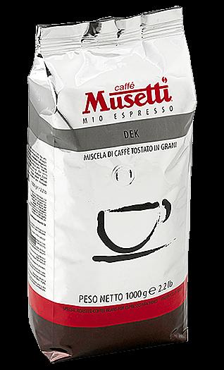 Musetti Caffe Decaffeinato Bohnen 1kg