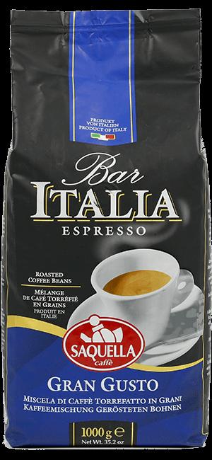 Saquella Bar Italia Gran Gusto Bohnen 1kg