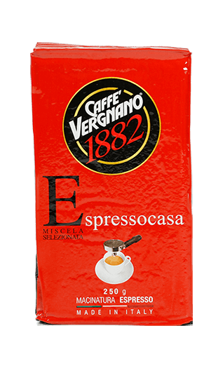 Vergnano Espresso Casa gemahlen 250g